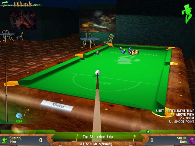 Als stände man vor einem echten billiardtisch das billard pc spiel