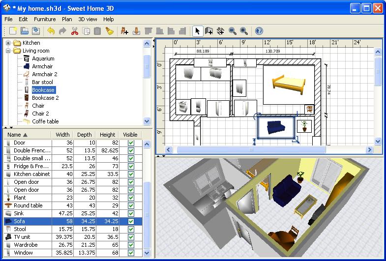 Einrichtungssoftware  Einrichtung für Ihr Haus in 3D planen - Download kostenlos
