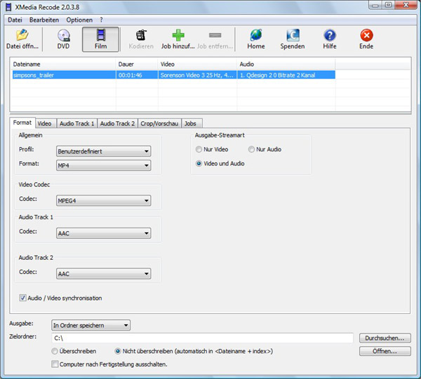 MP4 in MP3 umwandeln - kostenlose Freeware