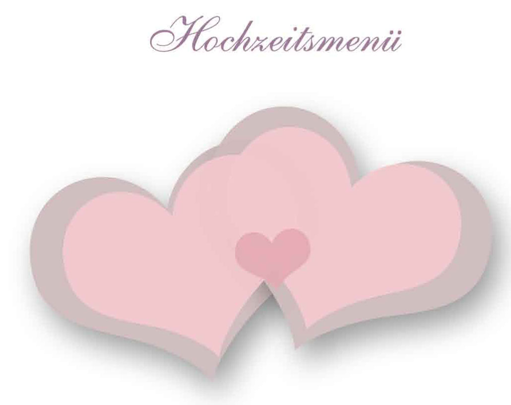 Office Vorlage Menukarten Fur Hochzeiten Gratis Download