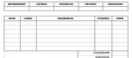 Ungewöhnlich Kostenlose Bestellung Vorlage Excel Download ...