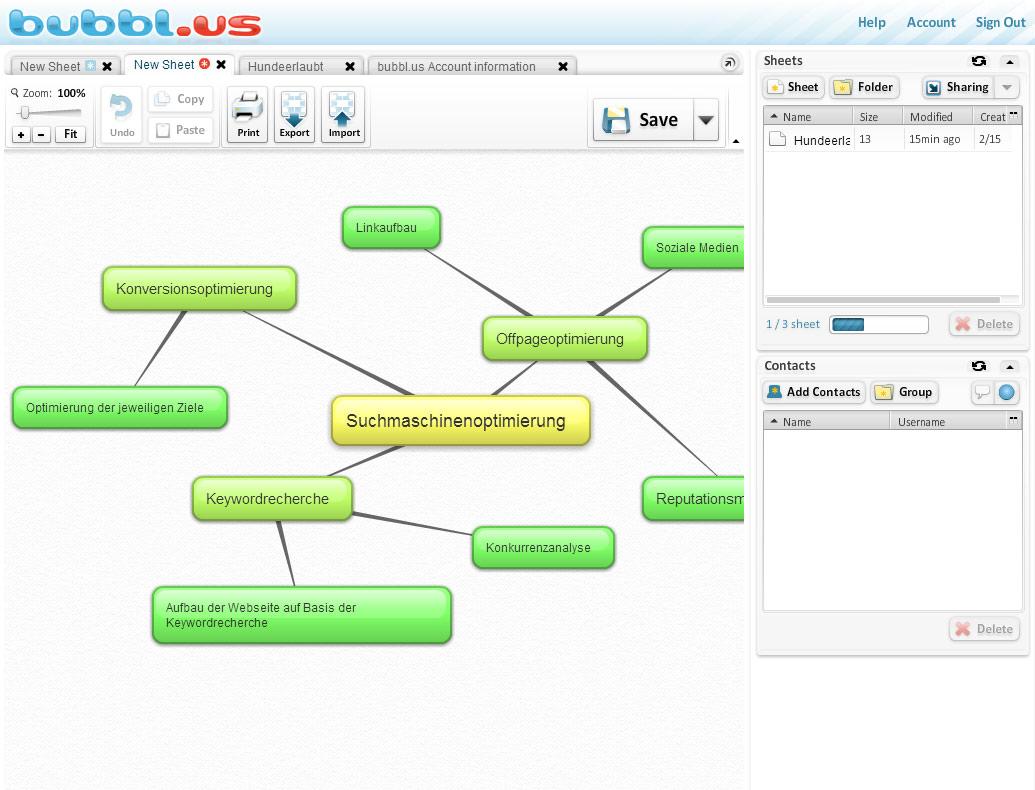 mindmap online erstellen kostenlos internet