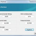 Brutto und Netto anzeigen – MwSt Rechner Freeware