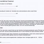 Office Vorlage Testament – kostenlos runterladen