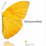 """Office Vorlage """"Bericht-Deckblatt"""" – gratis Download"""