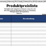 """Office-Vorlage """"Preisliste"""" zum gratis Download"""