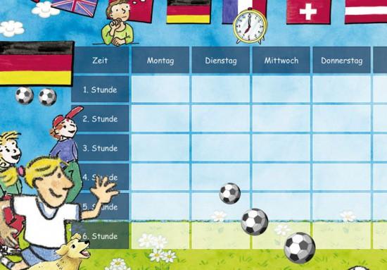 Kostenloser Fussball Stundenplan