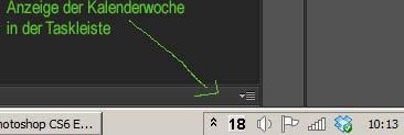 Kalenderwochen Anzeige Windows Taskleiste